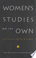 Women's Studies on Its Own