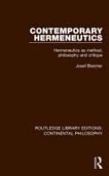 Contemporary Hermeneutics