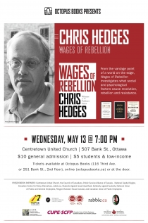 Chris Hedges: Wages of Rebellion Book Launch Ticket - General Admission