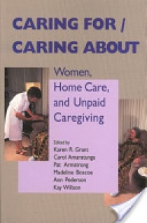 Caring for/caring about