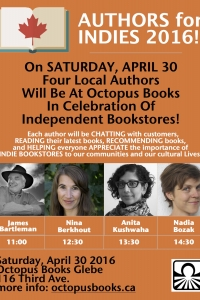 Authors for Indies Day! Celebrating Independent Bookstores!