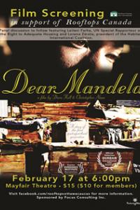 Dear Mandela Film Screening In Support of Rooftops Canada