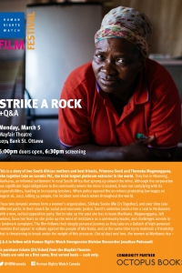 Strike a Rock Film Screening and Q&A with Human Rights Watch Emergencies Division Researcher, Jonathan Pedneault