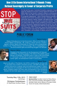 Stop the Suits: How Little Known International Tribunals Trump National Sovereignty in Favour of Corporate Profits